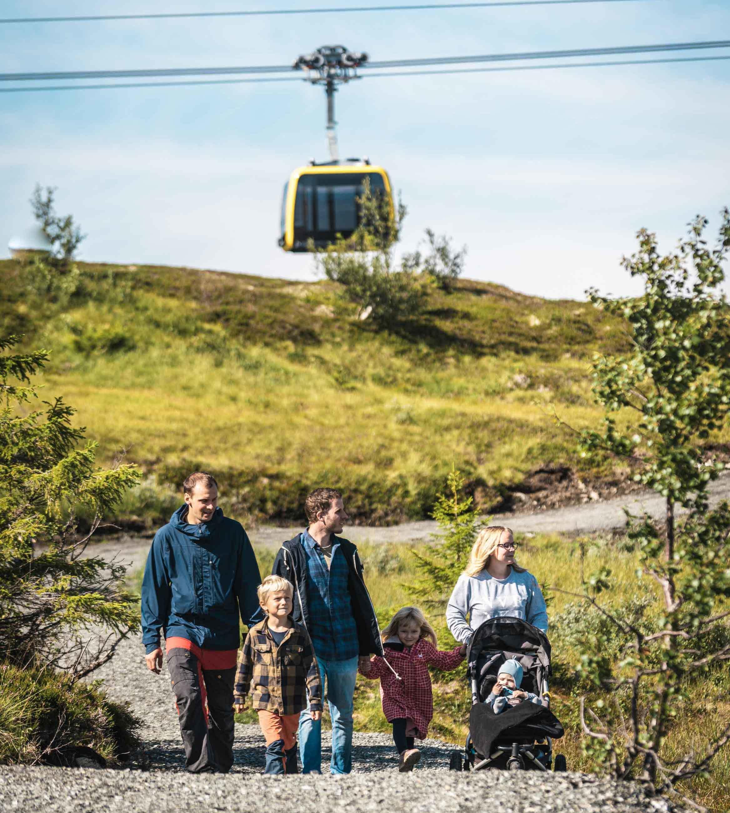 Tilrettelagt for barnevogn i Hanguren Panorama. Foto: Jon Hunnålvatn Tøn