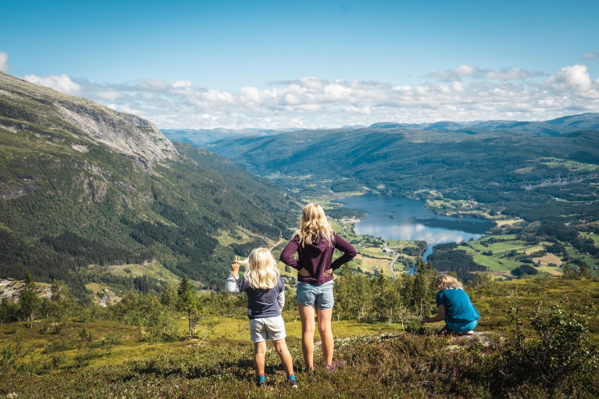 Utsikt frå Hanguren Panorama. Foto: Jon Hunnålvatn Tøn